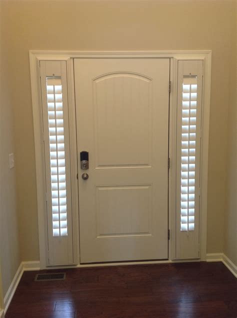 Front Door Blinds by Entry Door Sidelight Window Shutters Cleveland Shutters