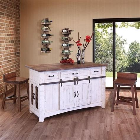 Kitchen Furniture Direct International Furniture Direct Pueblo Ifd360island Kitchen Island With Sliding Doors Dunk