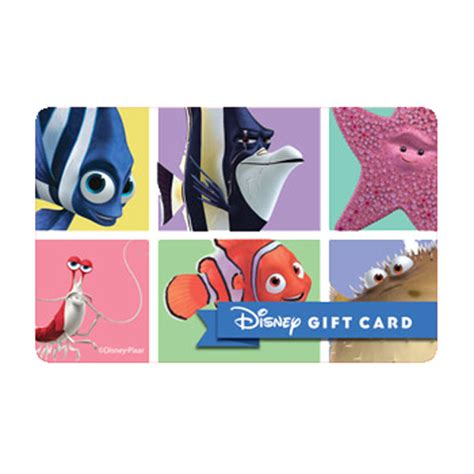 Disney Store Gift Cards - your wdw store disney collectible gift card finding nemo the box