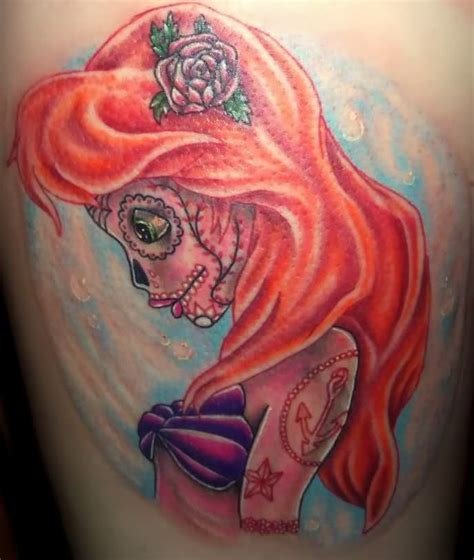 the little mermaid tattoos the mermaid skull