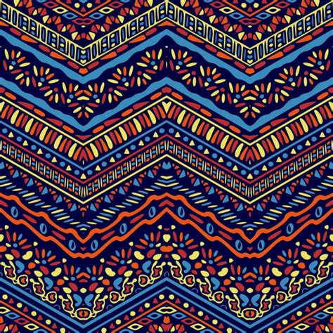 african pattern ai fantastic hand drawn ethnic pattern vector free download