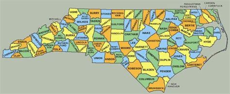 county map of nc map of carolina counties free printable maps