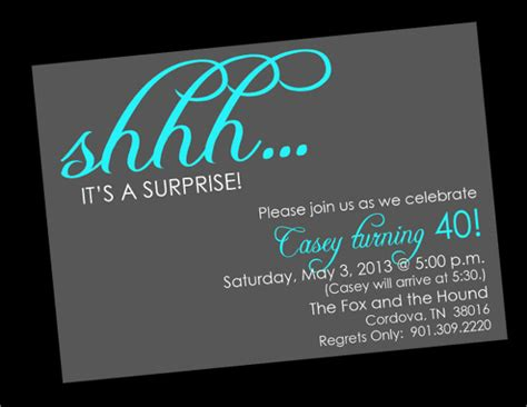 surprise birthday invitations wblqual com