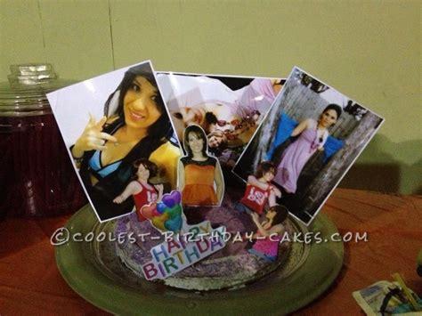 Handmade Photo Collage For Birthday - custom birthday photo collage cake