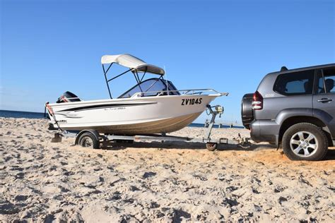 boat trailer wheels for sand access to normanville beach for vehicles boat trailers