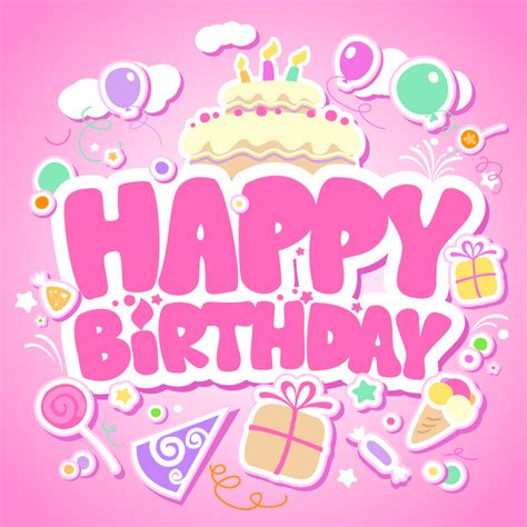birthday pattern pink vector happy birthday pink background vector material happy