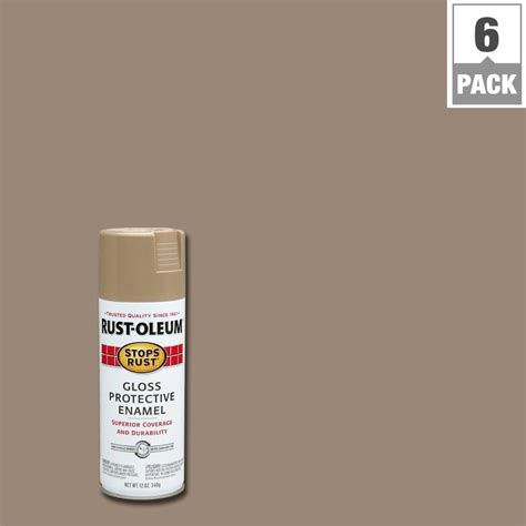spray paint gloss or flat rust oleum stops rust 12 oz protective enamel semi gloss