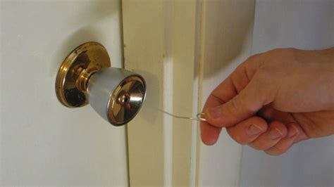 how to pick a bedroom door lock with a paperclip open simple household locks with a paper clip
