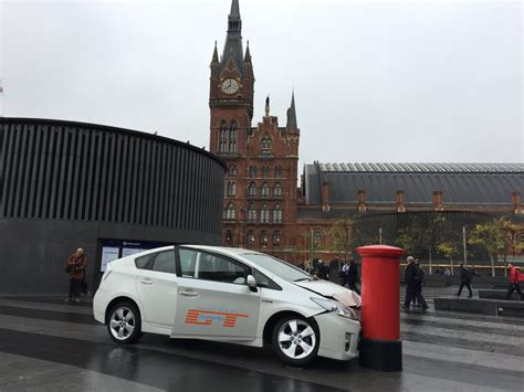 toyota prius wrecking grand tour team promote their new show by wrecking branded