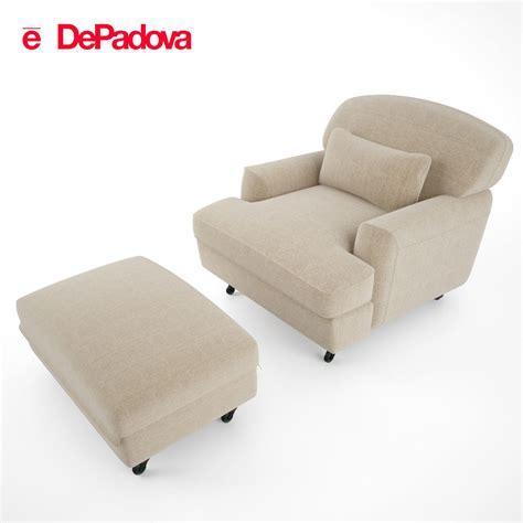 armchair and ottoman de padova raffles armchair and ottoman 3d model max obj