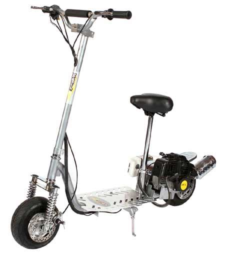 gas scooter with seat 49cc 2 stroke gas powered scooter x treme xg 499 epa