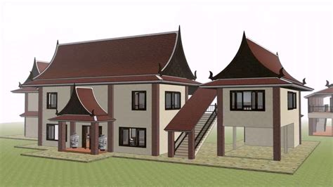 thai style house designs thailand style house plans