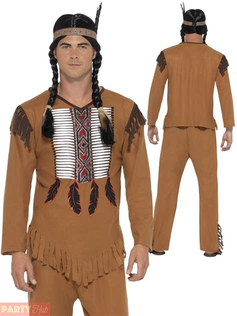 mens native attire mens native american warrior red indian costume adult