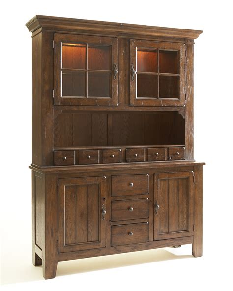 broyhill attic heirlooms rustic oak china cabinet 5399 65 - China Hutch