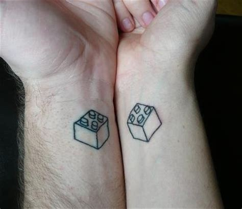 Lego Tattoo Couple | awesome couple s lego tattoo it s rick james bricks