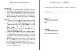 Sponsor Agreement Template Sponsorship Agreement Template Free Agreement Templates