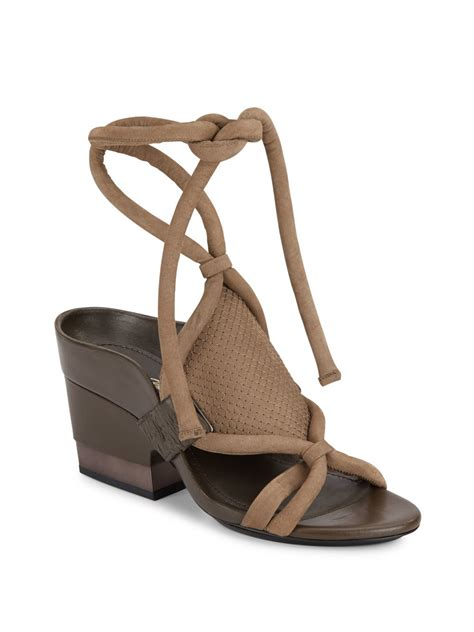 tie sandals 3 1 phillip lim marquise leather suede ankle tie sandals