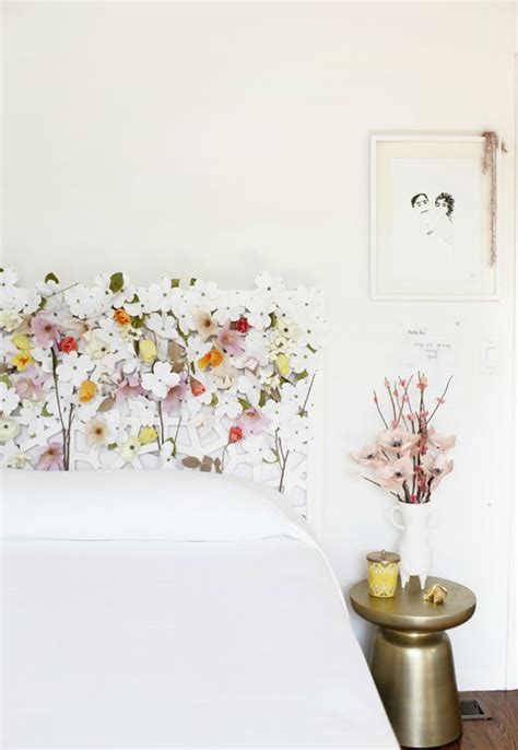 floral headboard creamylife blog