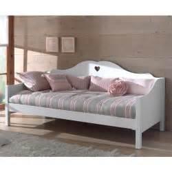lit banquette en bois finition laqu 233 blanc couchage 90 x