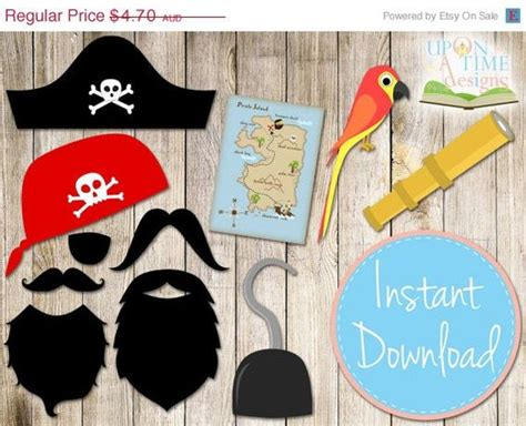 Pirate Photobooth Props Printable Instant Download | pirate photobooth props printable instant download