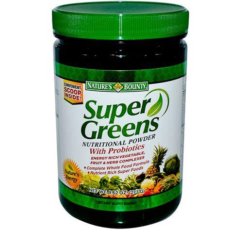 supplement greens nature s bounty greens nutritional powder 9 62 oz