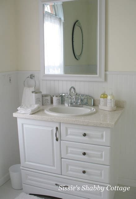 beadboard bathroom vanity beadboard bathroom here by the sea and sand pinterest