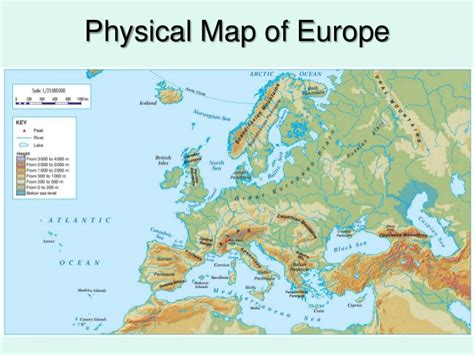 physical maps of europe physical geography of europe