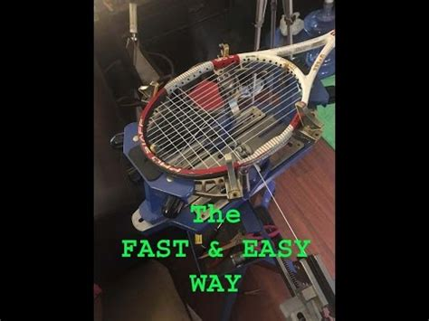 how to string a tennis racquet 13 steps with pictures how to string a tennis racquet easy way to string the