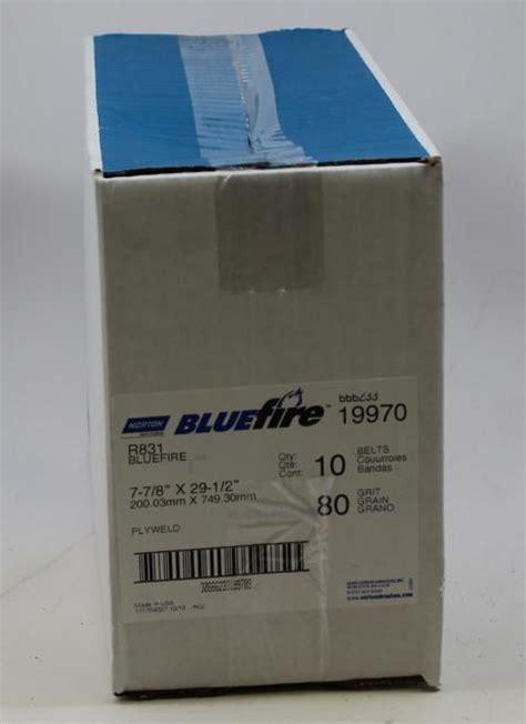 Norton Abrasives 80 Grit BlueFire Floor Sander Belts 7 7/8