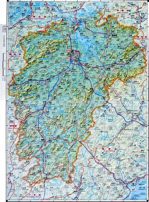 jiangxi china map maps  jiangxi