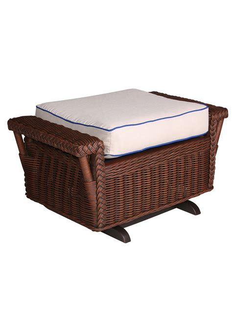 gliding ottoman stone harbor wicker gliding ottoman cottage home 174