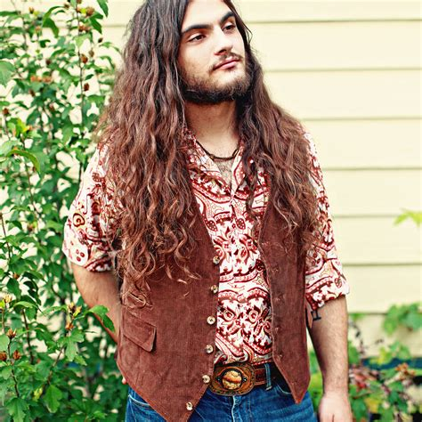 Mens Hippie Hairstyles | 1970s hippie fashion men s vest button up