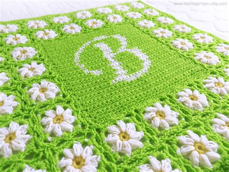 name blanket pattern crochet pattern pdf personalized crochet baby blanket