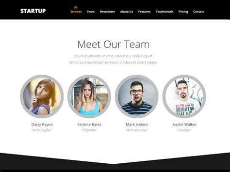 Adobe Muse Template Quot Smart Startup Quot How To Edit Quot Our Team Quot Section Youtube Our Team Website Template