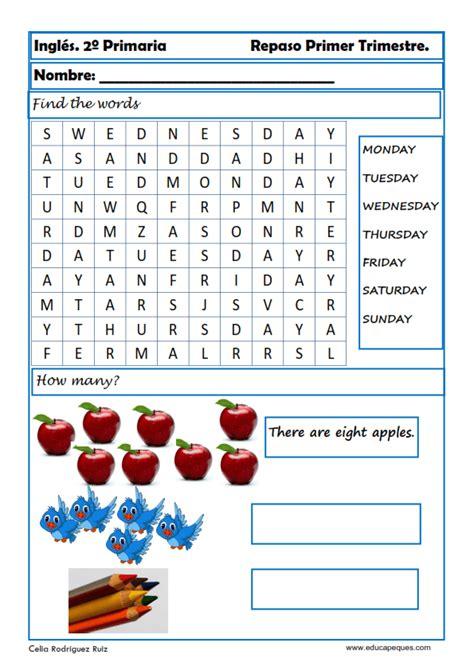 preguntas dificiles de gramatica ejercicios de ingl 233 s para segundo de primaria