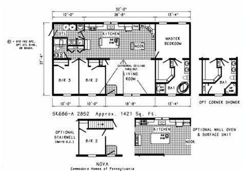 commodore homes floor plans commodore nova ranch doublewide model sk686a beldenhomesinc