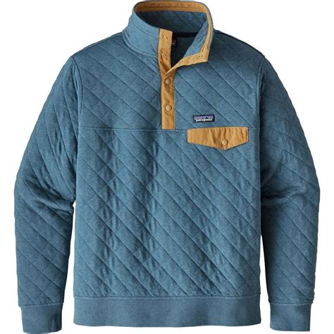patagonia cotton quilt snap t fleece pullover s up