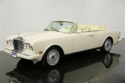 1989 rolls royce corniche ii drophead coupe for sale