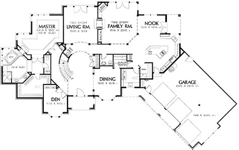 curved staircase house plans angled garage and curved staircase 69366am architectural designs house plans