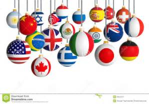 christmas balls with different flags royalty free stock photography image 33641677