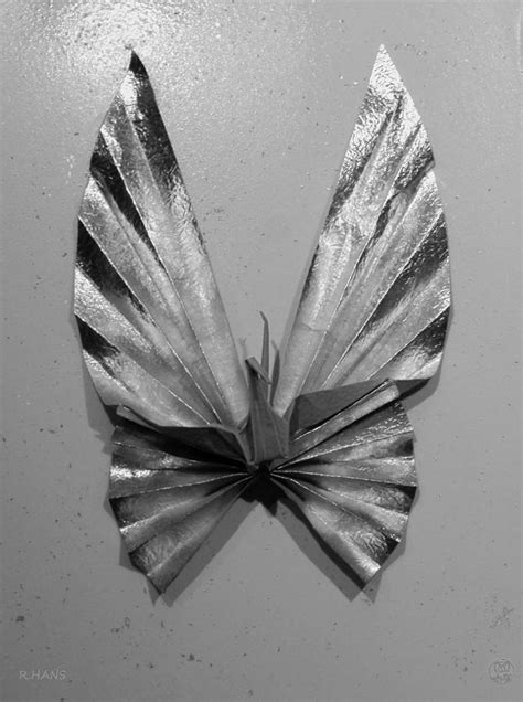 Robs Origami - origami butterfly in black and white photograph by rob hans