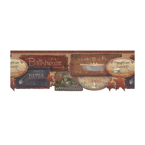 Wallborder Wallpaper List Kode 1004 York Wallcoverings Best Of Country Bath Signs Wallpaper