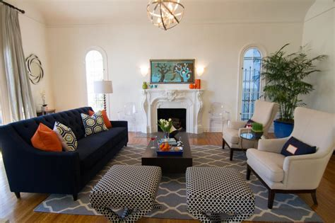 navy couches living room photos hgtv