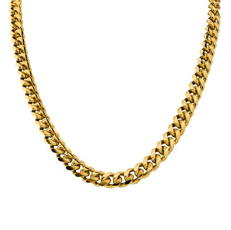 18k gold plated cuban curb link chain necklace or bracelet