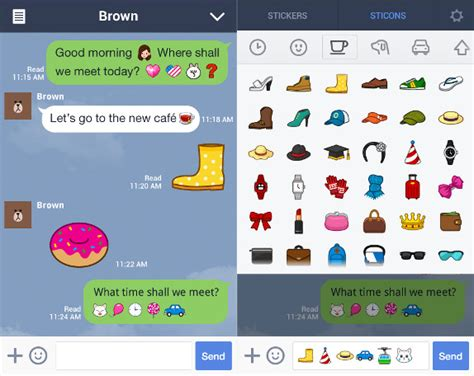 line for android line messenger for android gets sticons coming to iphone soon