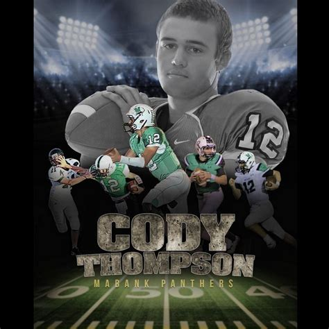 Custom Profesional Sports Poster Collage For Any Sport Team Or Athlete Sportrait Design And High School Football Media Guide Template
