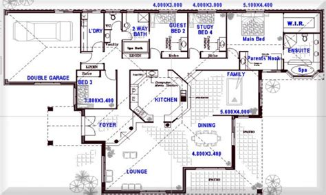 Bedroom Floor Plan 8 Bedroom Floor Plans 4 Bedroom Open Floor Plans Open Plan House Plans Mexzhouse