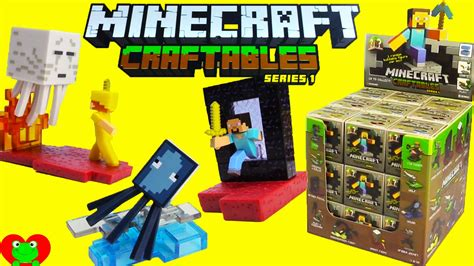Figure Minecraft Seri 1 minecraft craftables series 1 blind box buildable figures
