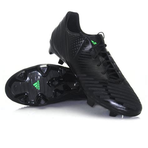 mens black football boots adidas predator lz trx fg mens football boots black