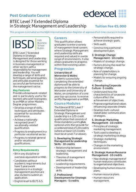 Mba Programs In Dublin Ireland by Business School Dublin Business Courses Ibsd